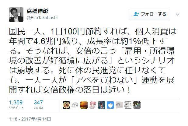 高橋伸彰 立命館大学教授のTwitter炎上事案