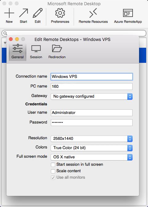 Windows VPSでMacでWindowsを使う